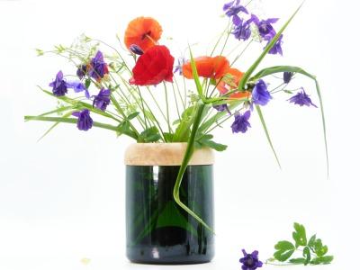 Magum Vase Vase aus Magnumsektflasche mit