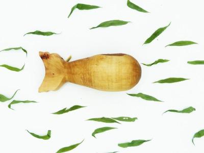 Alter Wal - aus Apfelholz