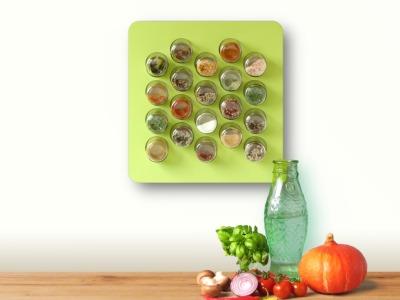 Gewürzregal Holz 20er avocado