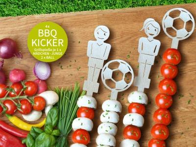 BBQ Kicker 4 Grillspieße 2x Ball Bonni Ben