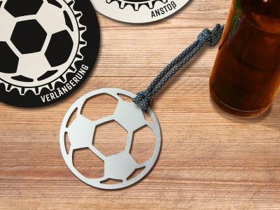 Fußball Flaschenöffner Anstoß