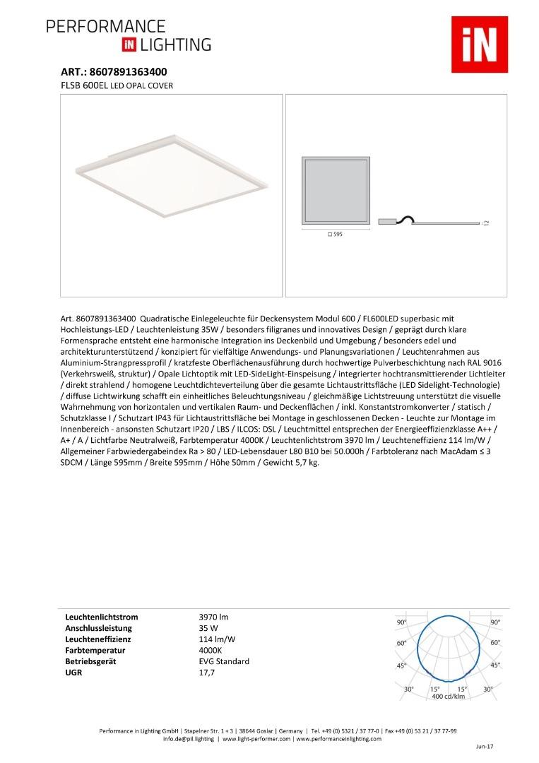 FLSB 600EL LED OPAL COVER - 1