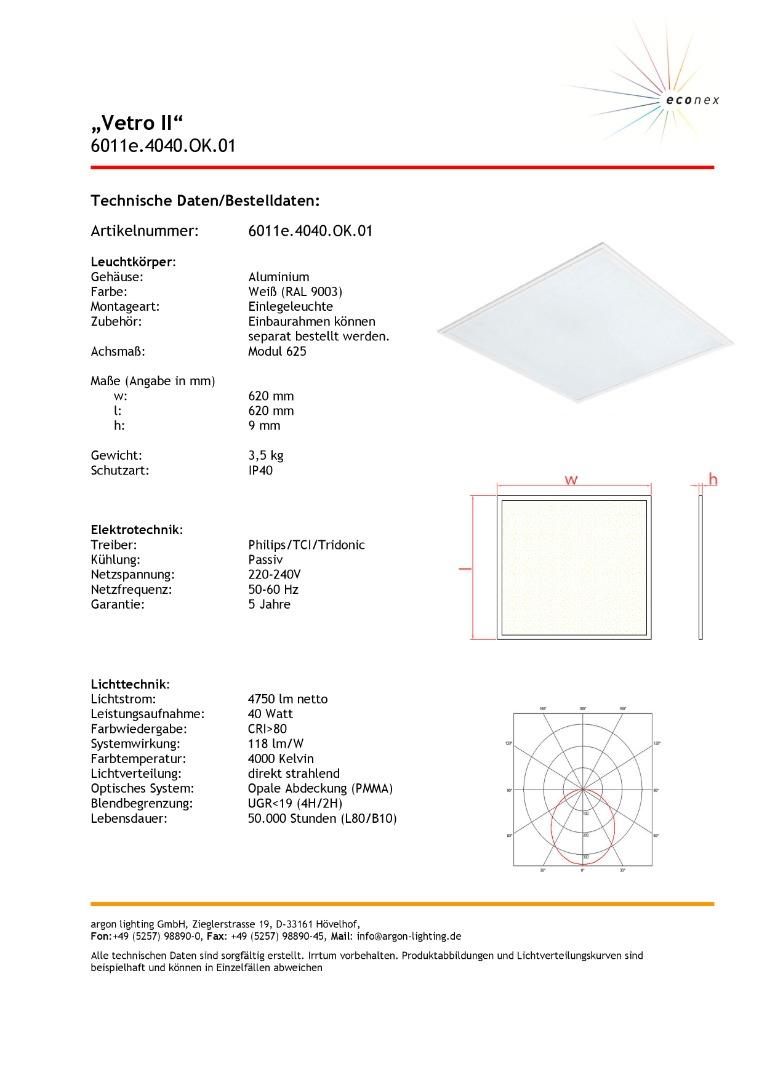 Argon Vetro II LED Panel - 1