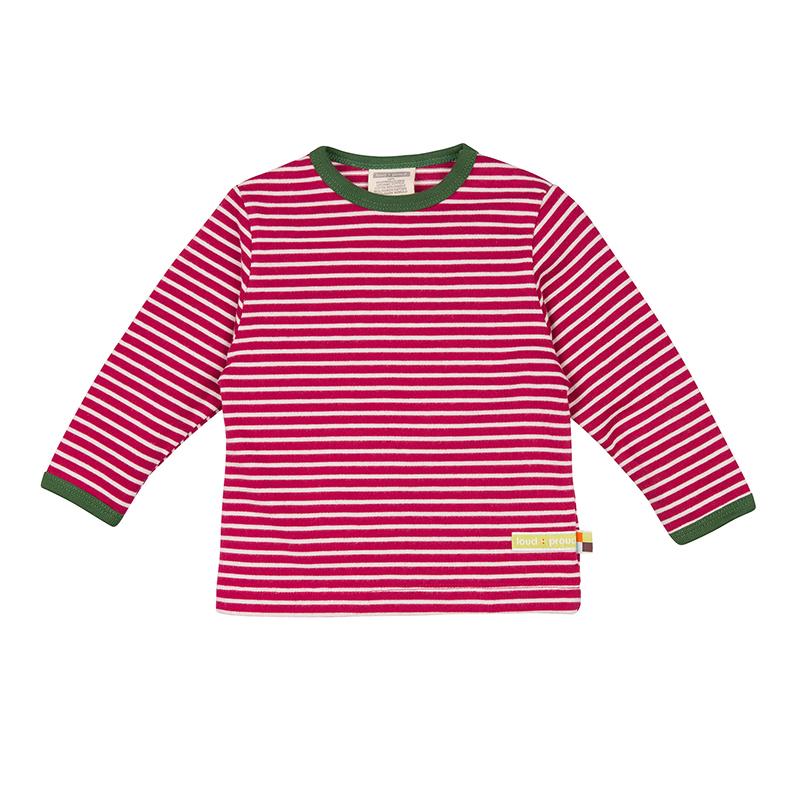 LOUD PROUD Baby Langarm-Shirt geschmirgelt Ringel