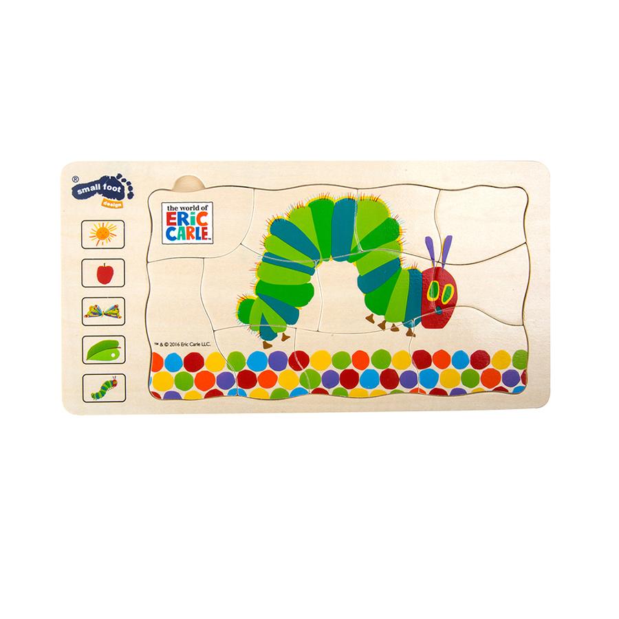 Gesellschaftspiel Raupe Nimmersatt Schichtenpuzzle