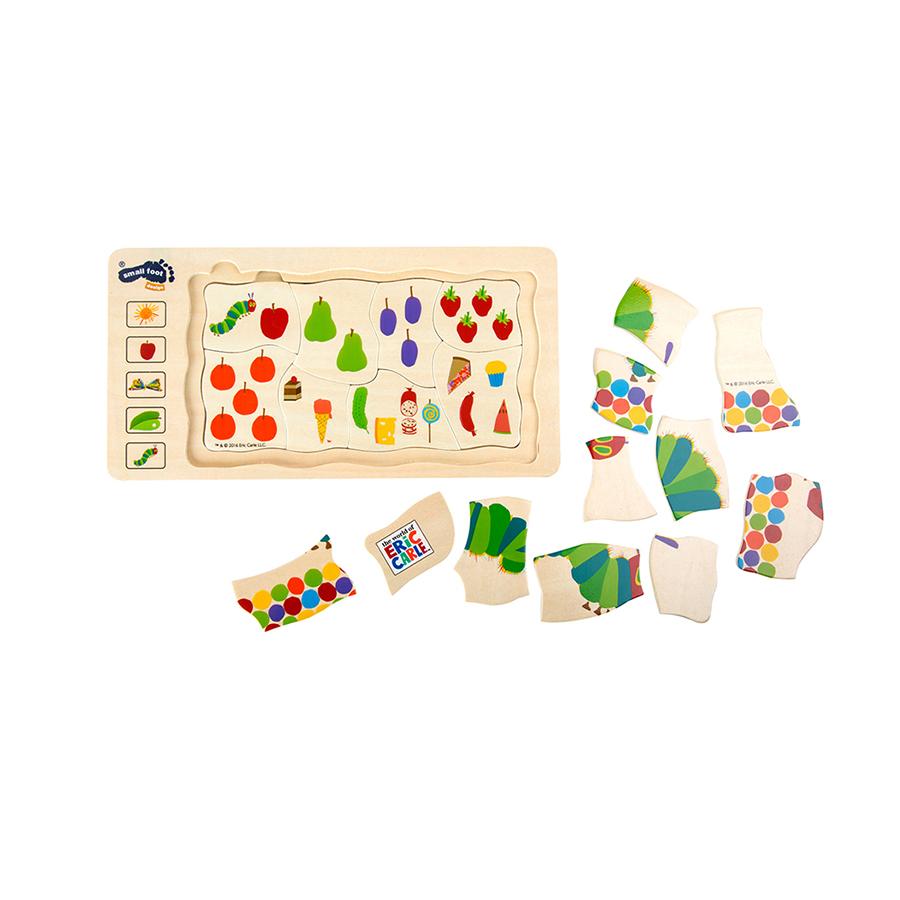 Gesellschaftspiel Raupe Nimmersatt Schichtenpuzzle 2