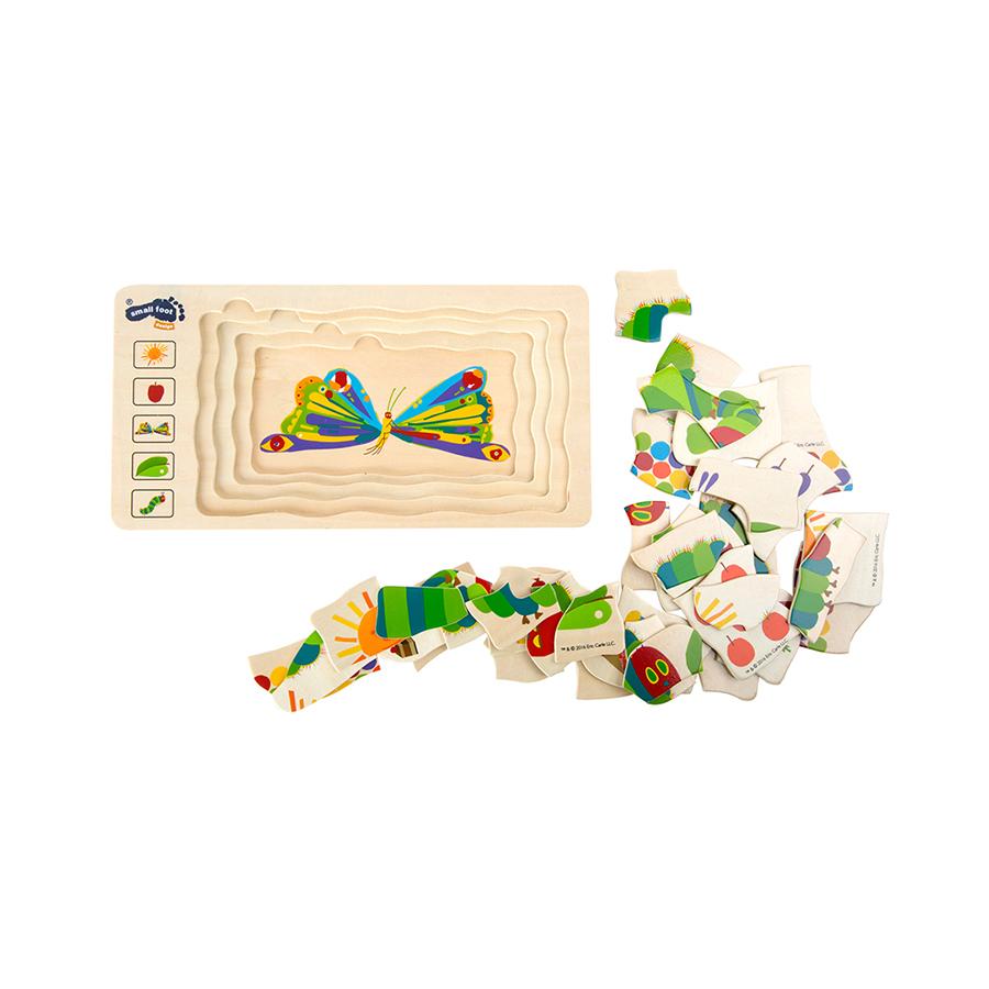 Gesellschaftspiel Raupe Nimmersatt Schichtenpuzzle 5