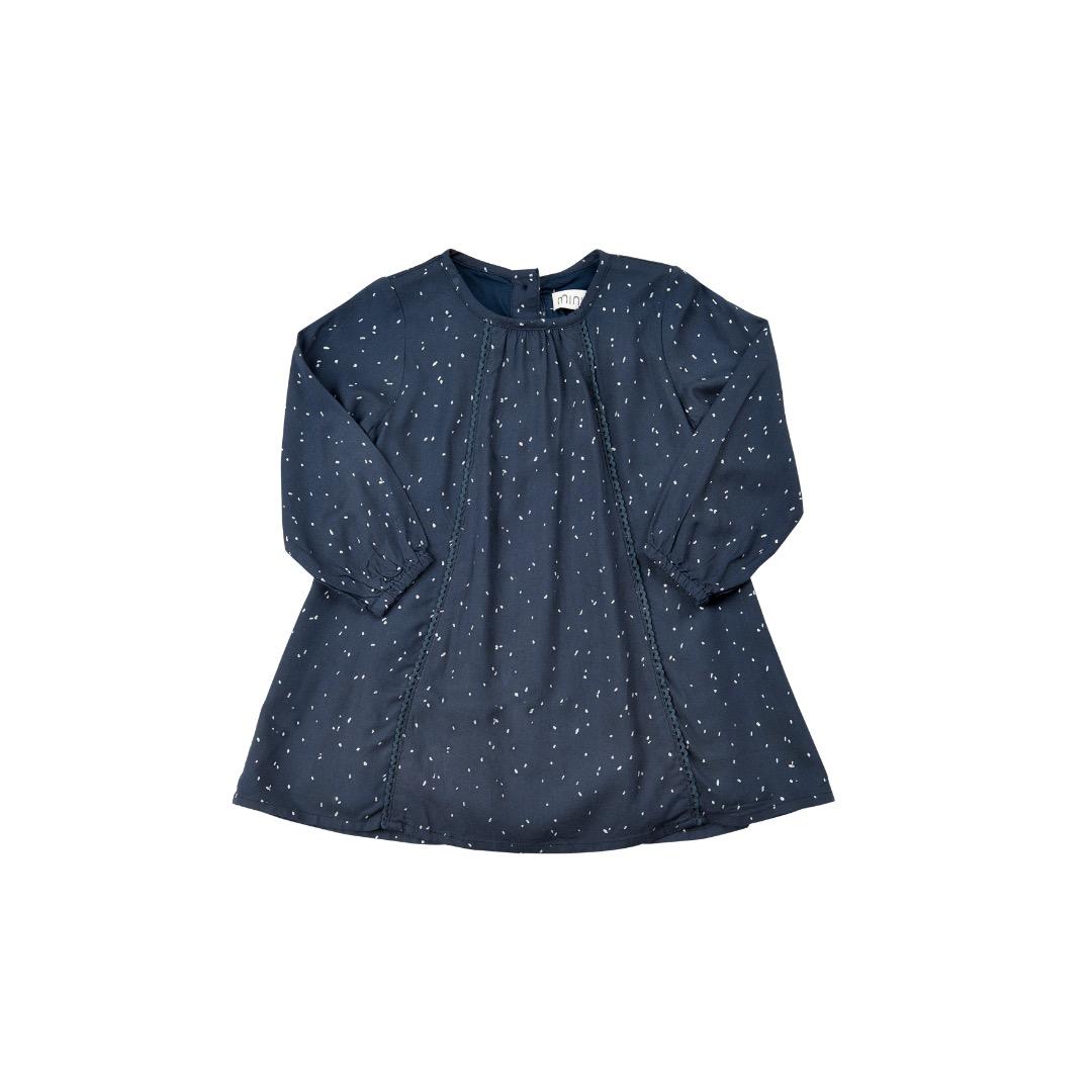 MINYMO Olive Zauberhaftes Kleid anthrazit mit