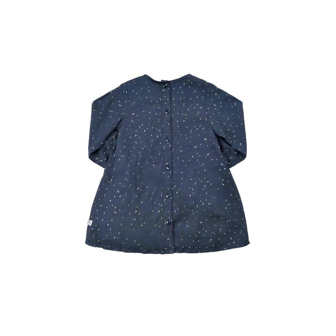 MINYMO Olive Zauberhaftes Kleid anthrazit mit Punkte weis