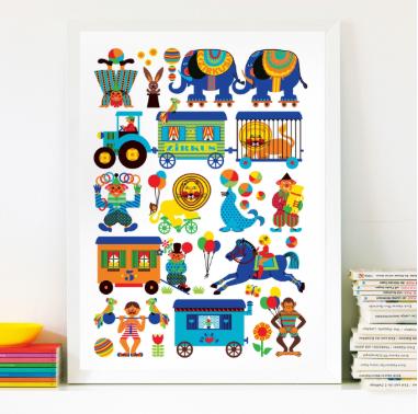 BY GRAZIELA Zirkus Kinder Poster cm - 1