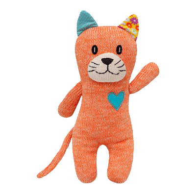 HICKUPS Strick-Katze orange 30 cm