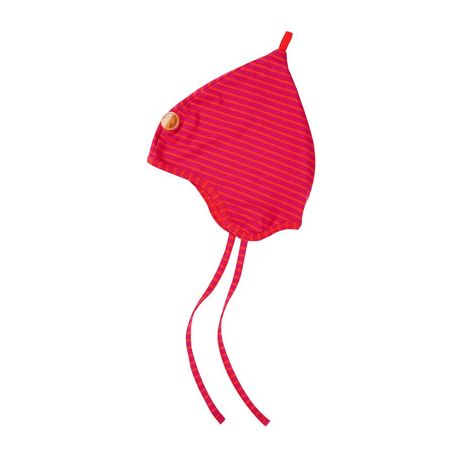 FINKID Kindermuetze Popi raspberry/fire