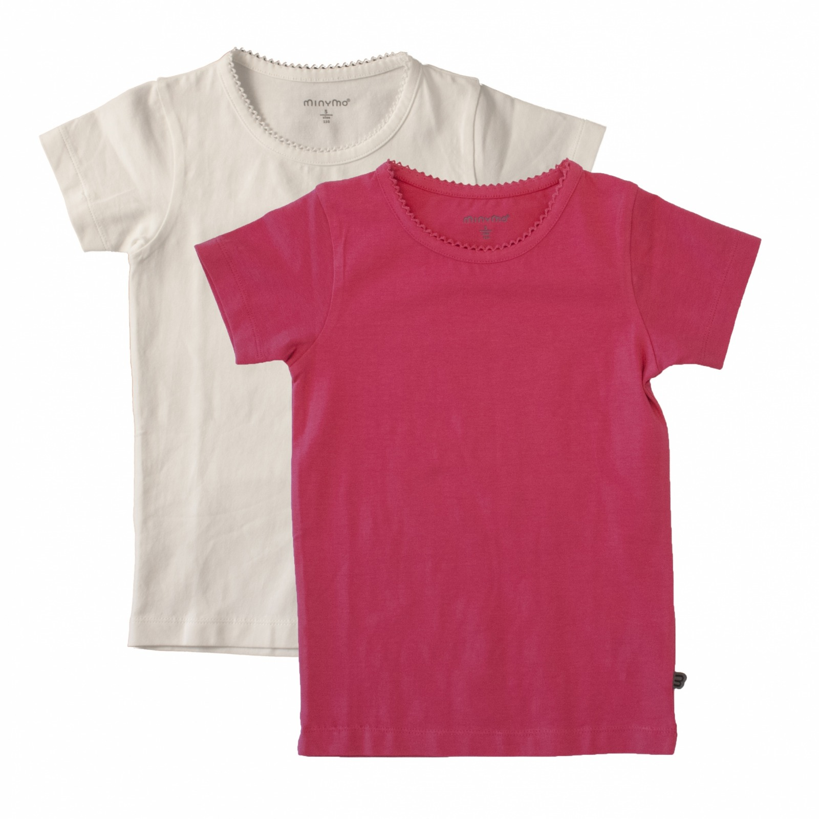 MINYMO T-Shirt Basic pink 2er Pack