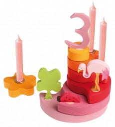GRIMM S Stecker-Set 1-5 rosa Geburtstagsdeko