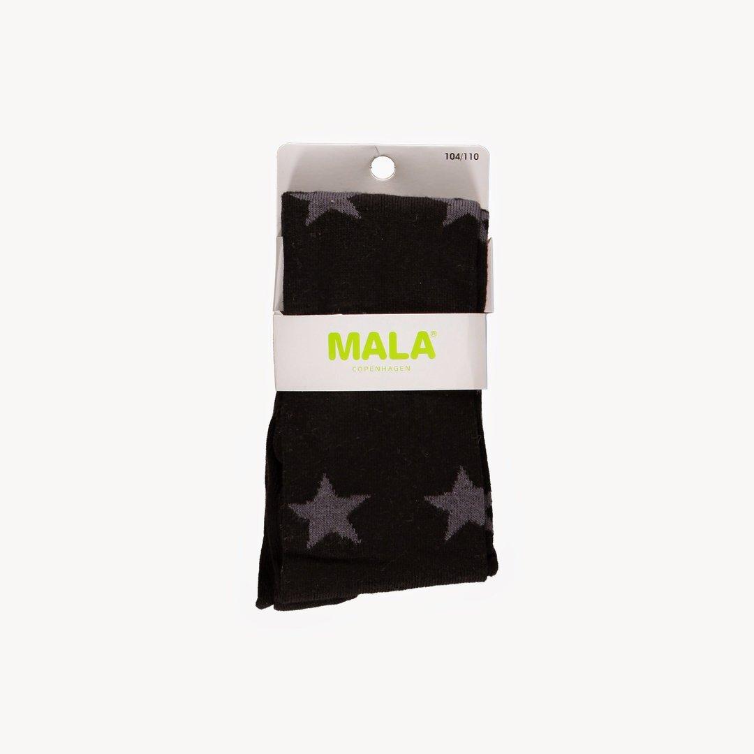 Strumpfhose Schwarz mit grauen Sternen von