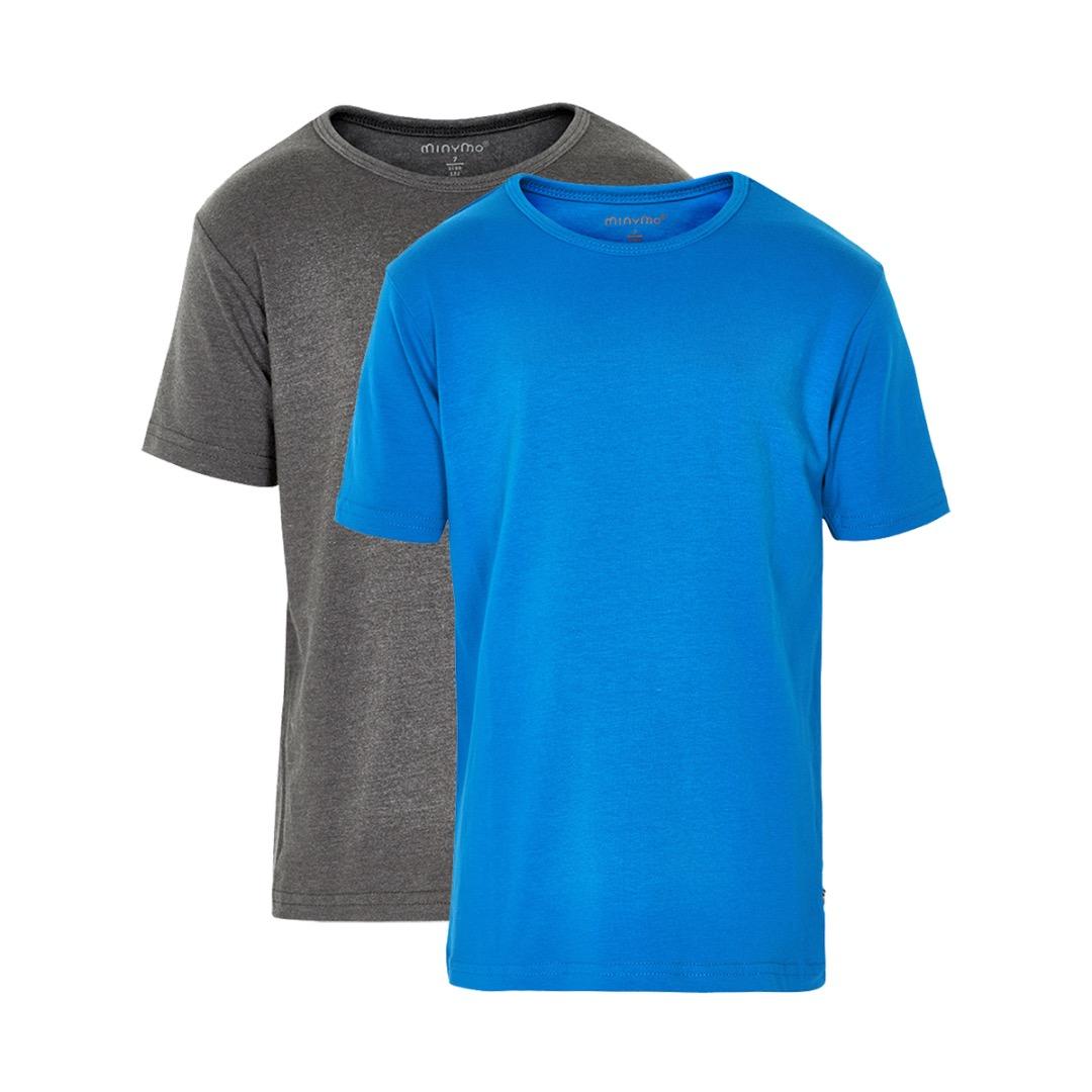 MINYMO T-Shirt Basic 2er Pack blau
