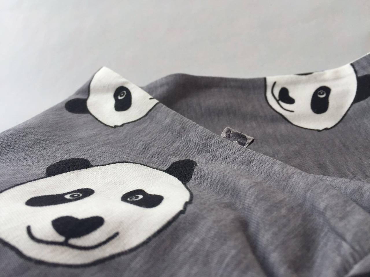 SMAFOLK Kinder Hose Pants Panda Gesicht Wilde Dove - 3