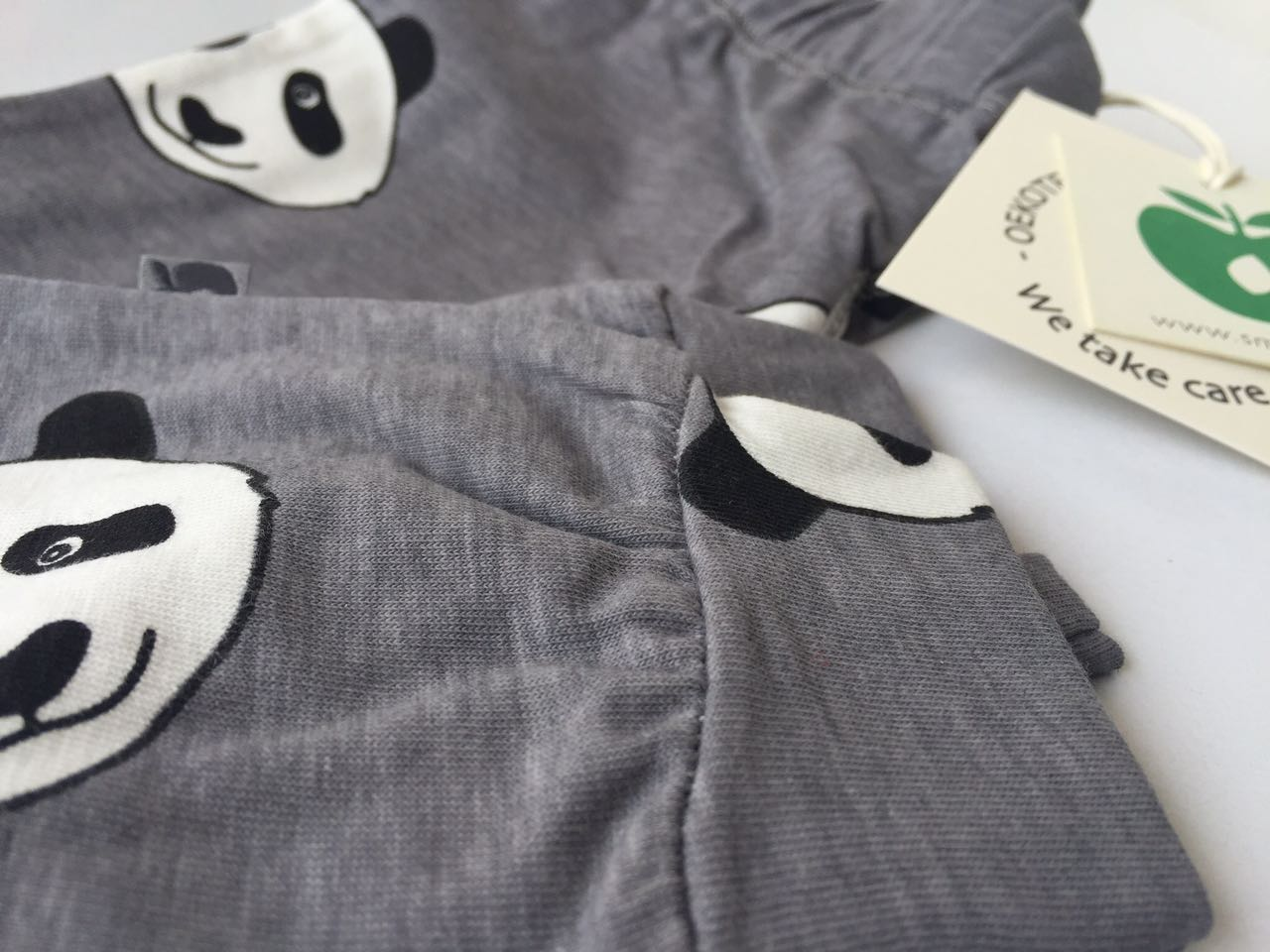 SMAFOLK Kinder Hose Pants Panda Gesicht Wilde Dove - 4