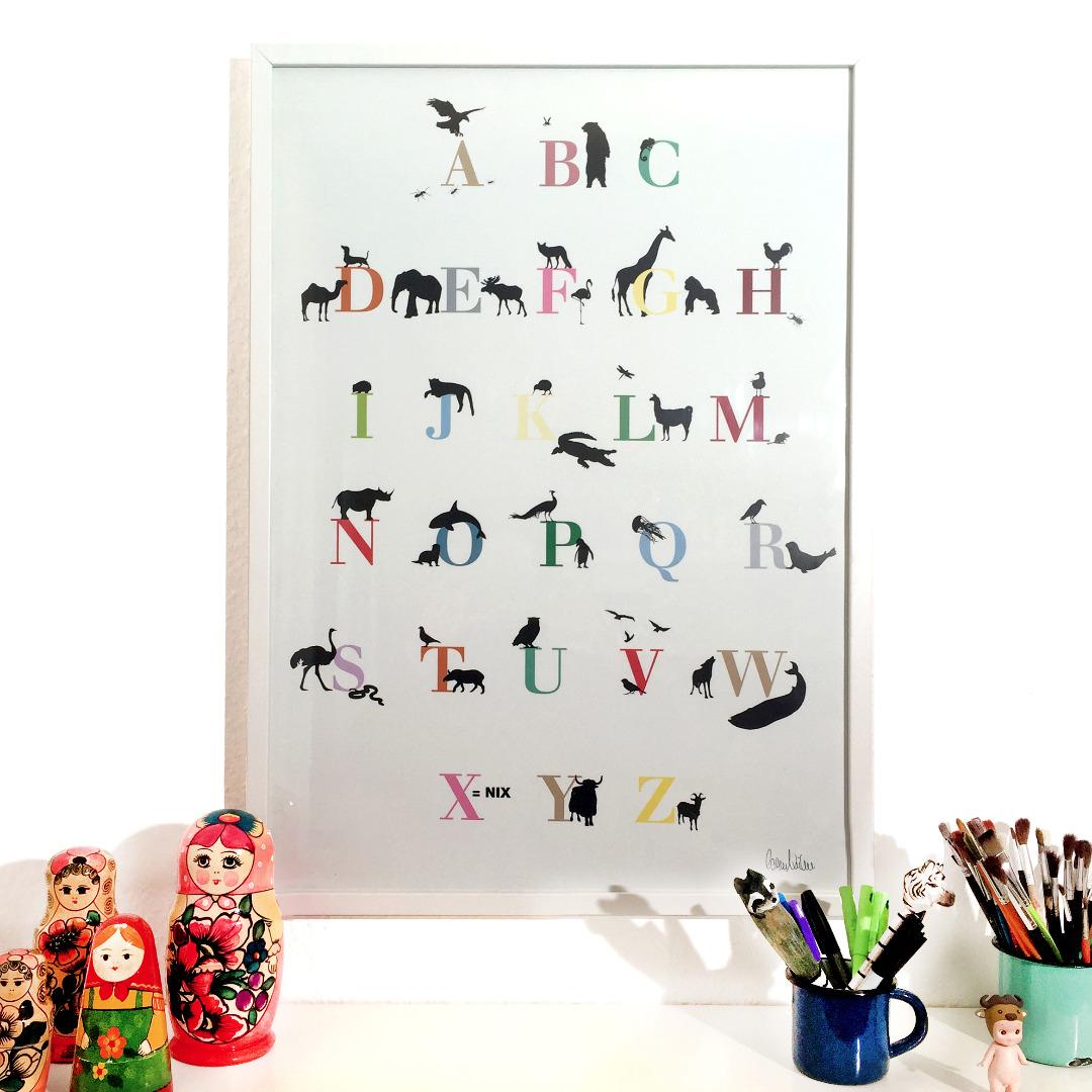 ENGELWERK ABC Poster Tiere 50 x 70 cm - 4