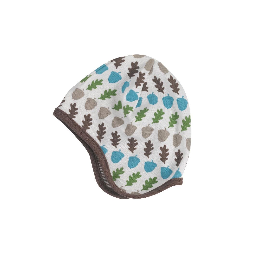 PIGEON Babymütze Wendemütze Eicheln braun Bio Baumwolle