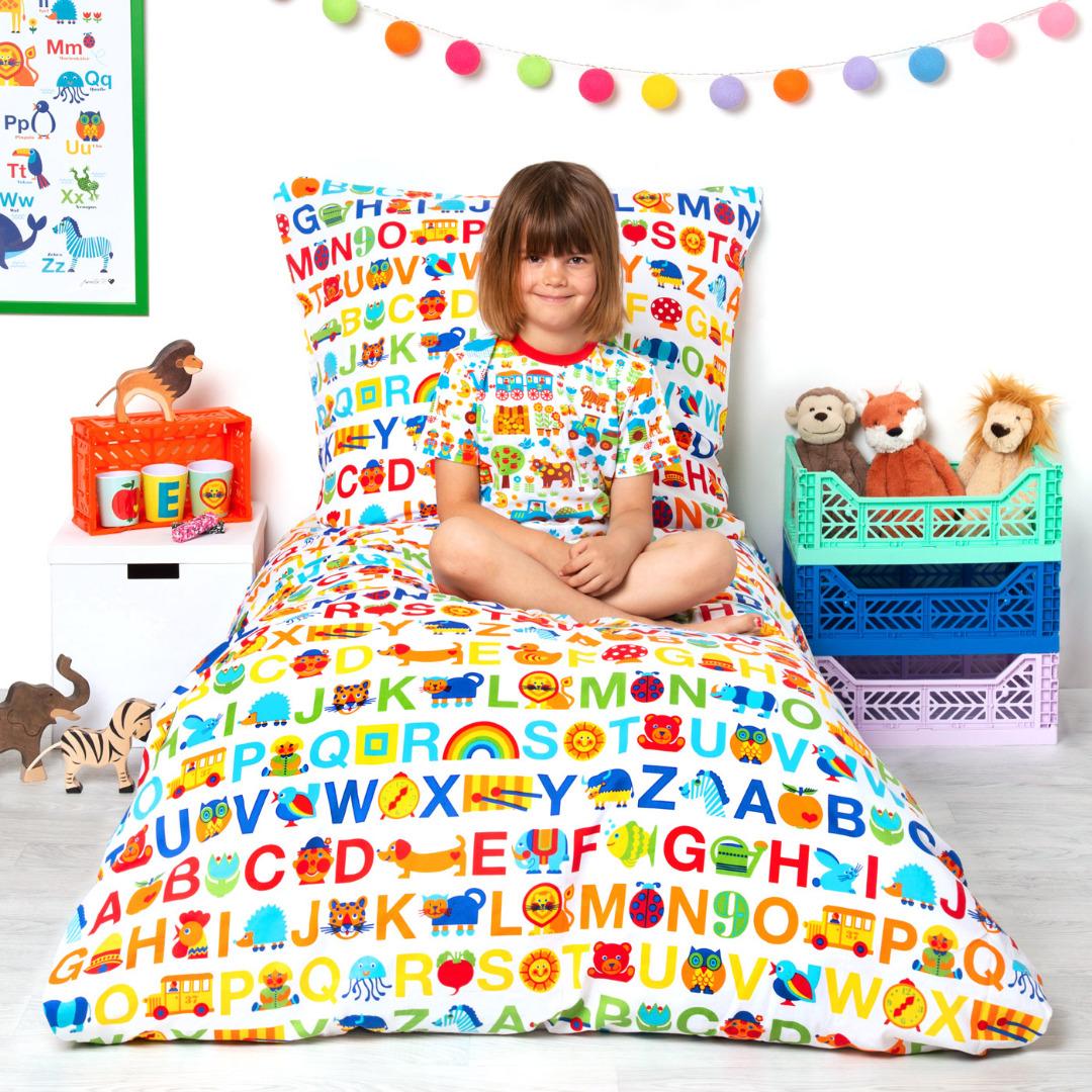 BY GRAZIELA Kinderbettwäsche ABC Regenbogen 3
