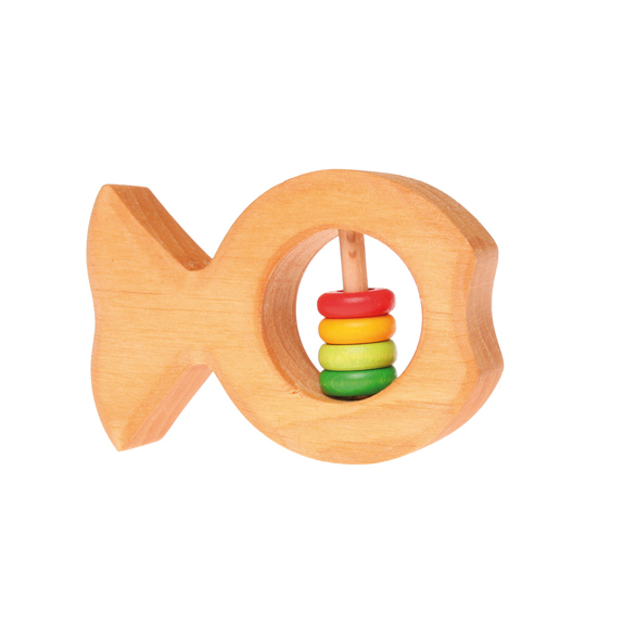 GRIMMS Rassel Fisch mit bunten Scheibchen - 1