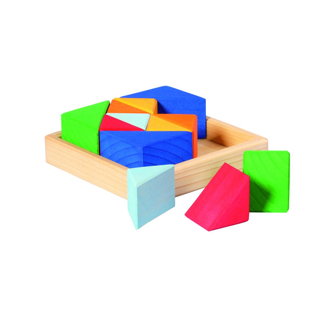 GLUeCKSKAeFER Baukasten Quadrat Dreiecke