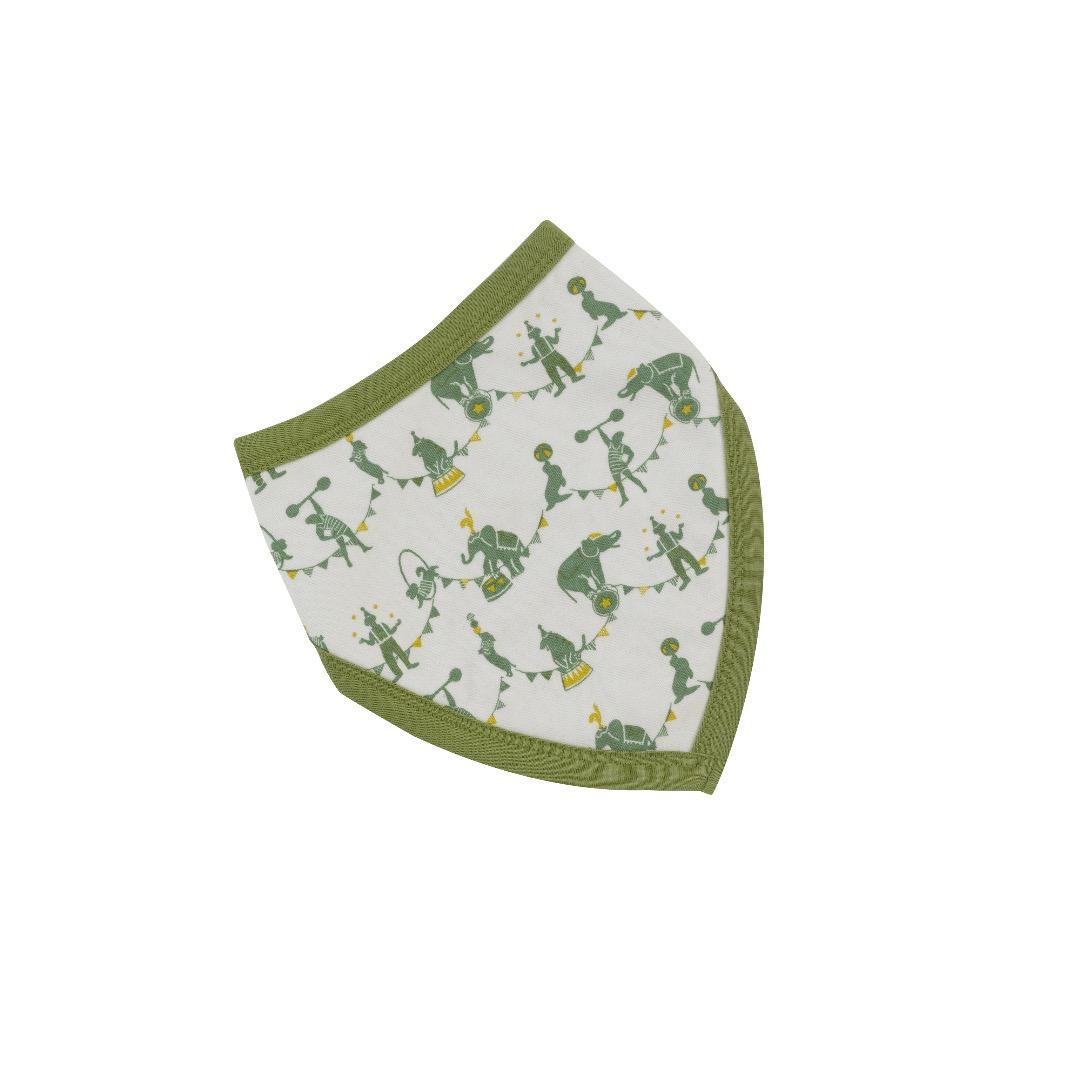 PIGEON Babyhalstuch Wendehalstuch BIO Baumwolle Zirkus grün Lätzchen - 1