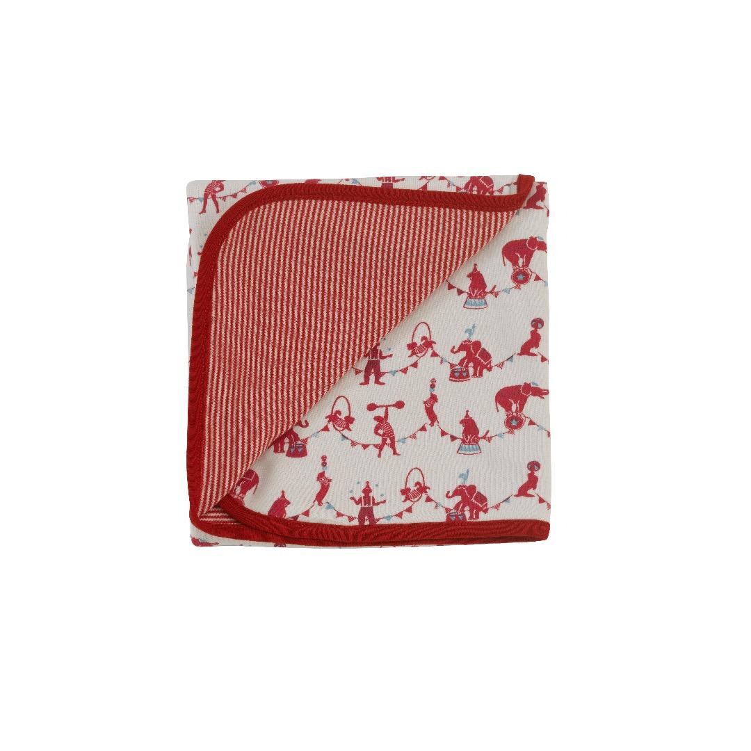 PIGEON Babydecke Wendedecke 72 x 70 cm Zirkus rot 100 Biobaumwolle - 1