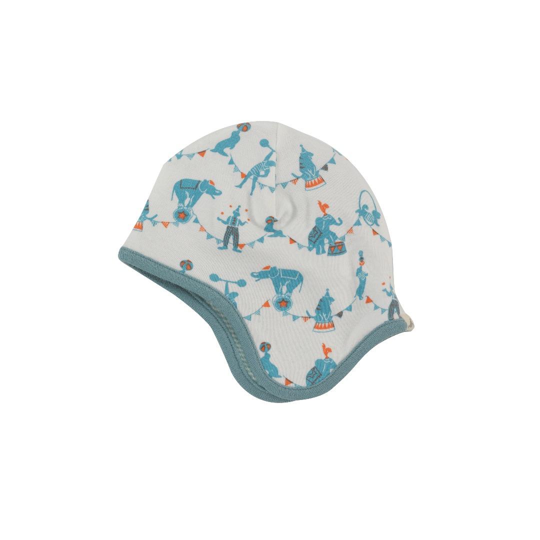 PIGEON Babymütze Wendemütze Zirkus blau Bio Baumwolle - 1