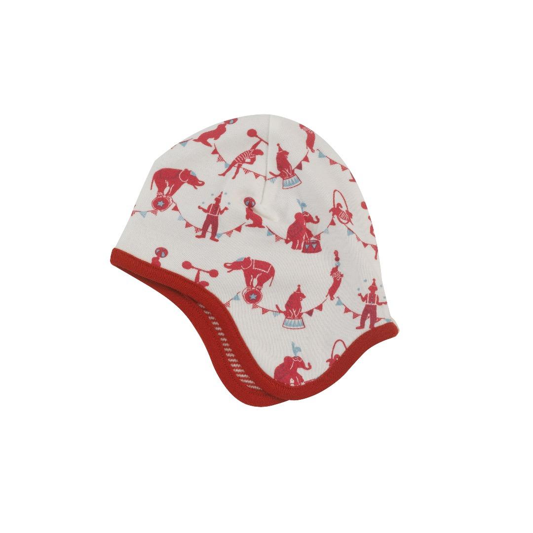 PIGEON Babymütze Wendemütze Zirkus rot Bio Baumwolle - 1