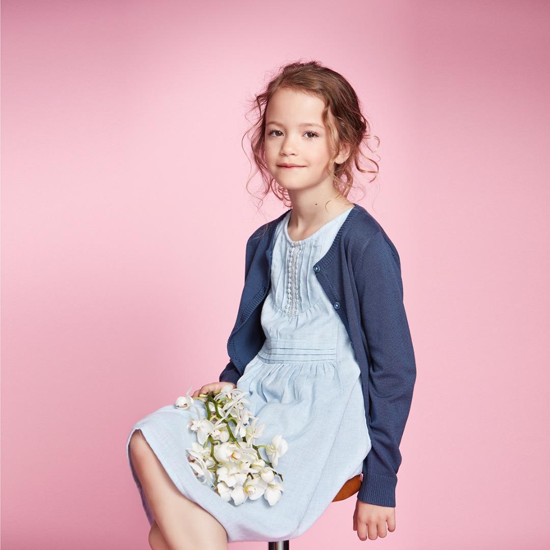 CREAMIE Kinder Strickjacke Mijanne Cardigan blau