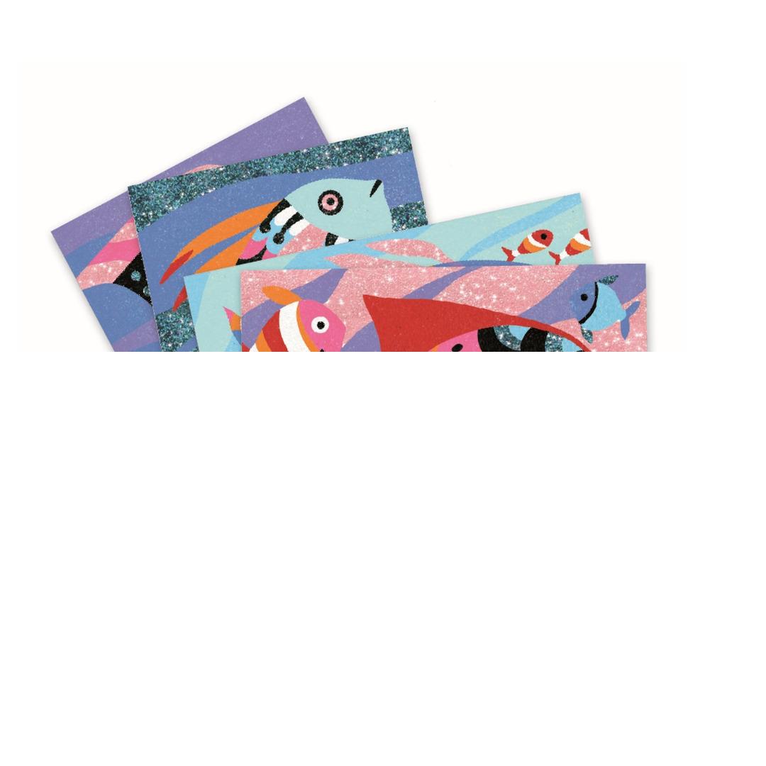 DJECO Sandbilder: Regenbogen Fische von DJECO