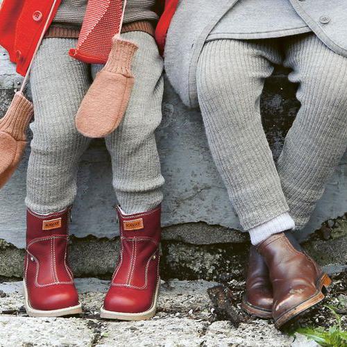 DISANA Strick-Leggings pflaume 100 Merino-Schurwolle kbT