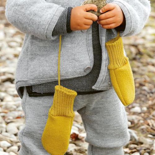 DISANA Walk Handschuhe grau Merino Schurwolle kbT