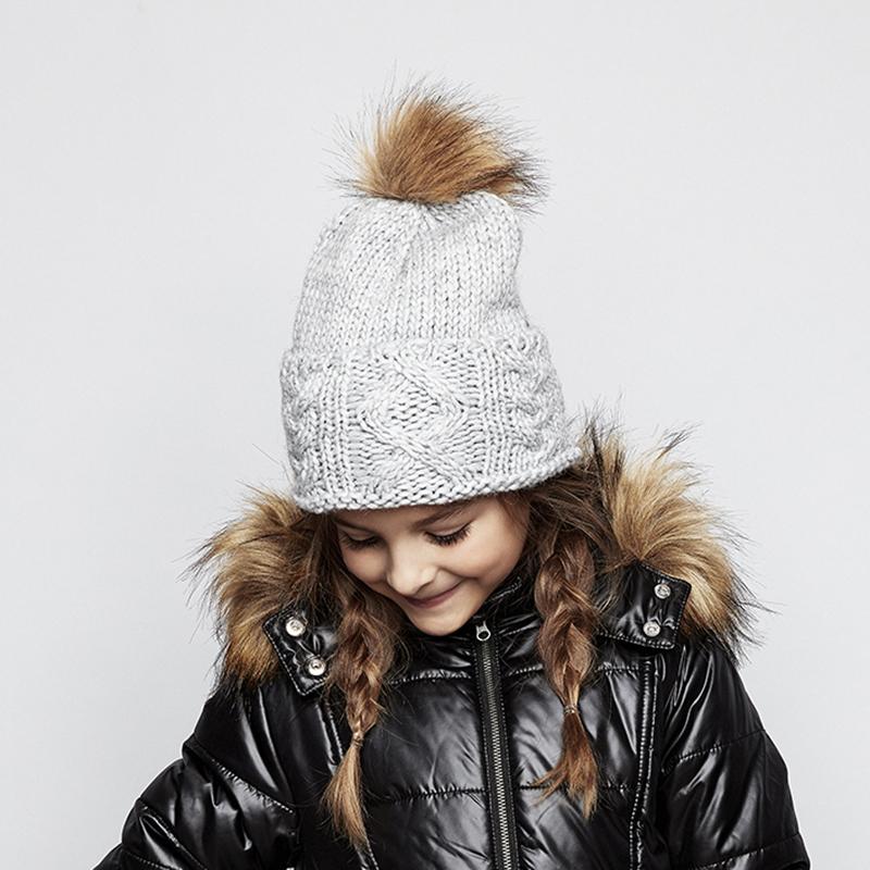 CREAMIE Mütze Judith hat grau 2