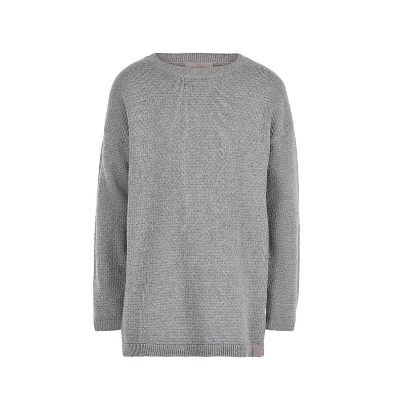 CREAMIE Oversize Pullover Jamie grau