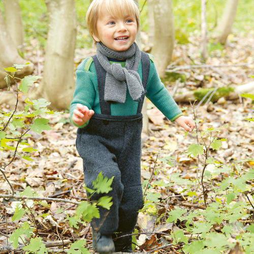DISANA Baby Strick-Basic-Pullover Baby blau/natur melange
