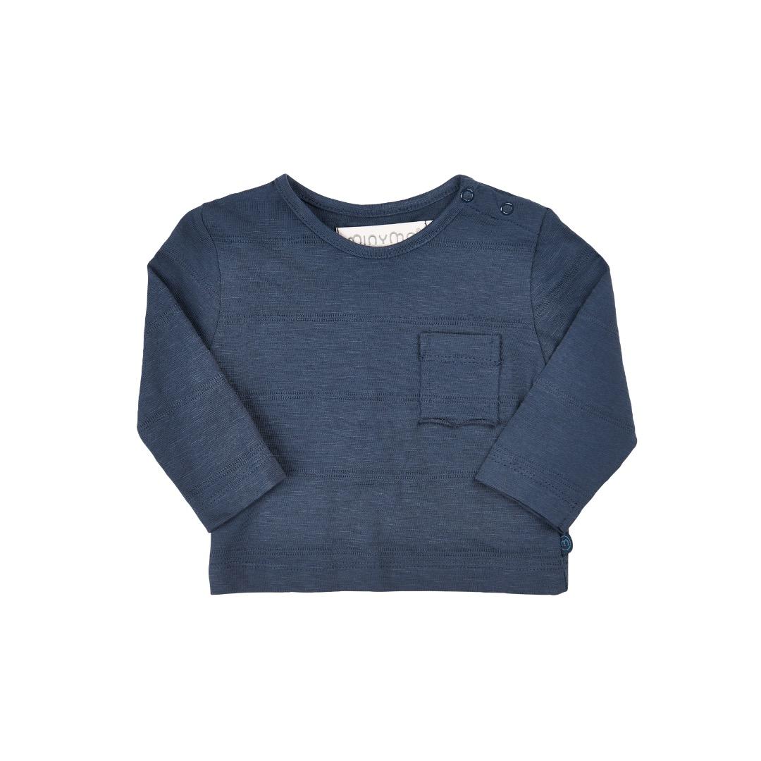 MINYMO Baby langarm Shirt dunkelblau