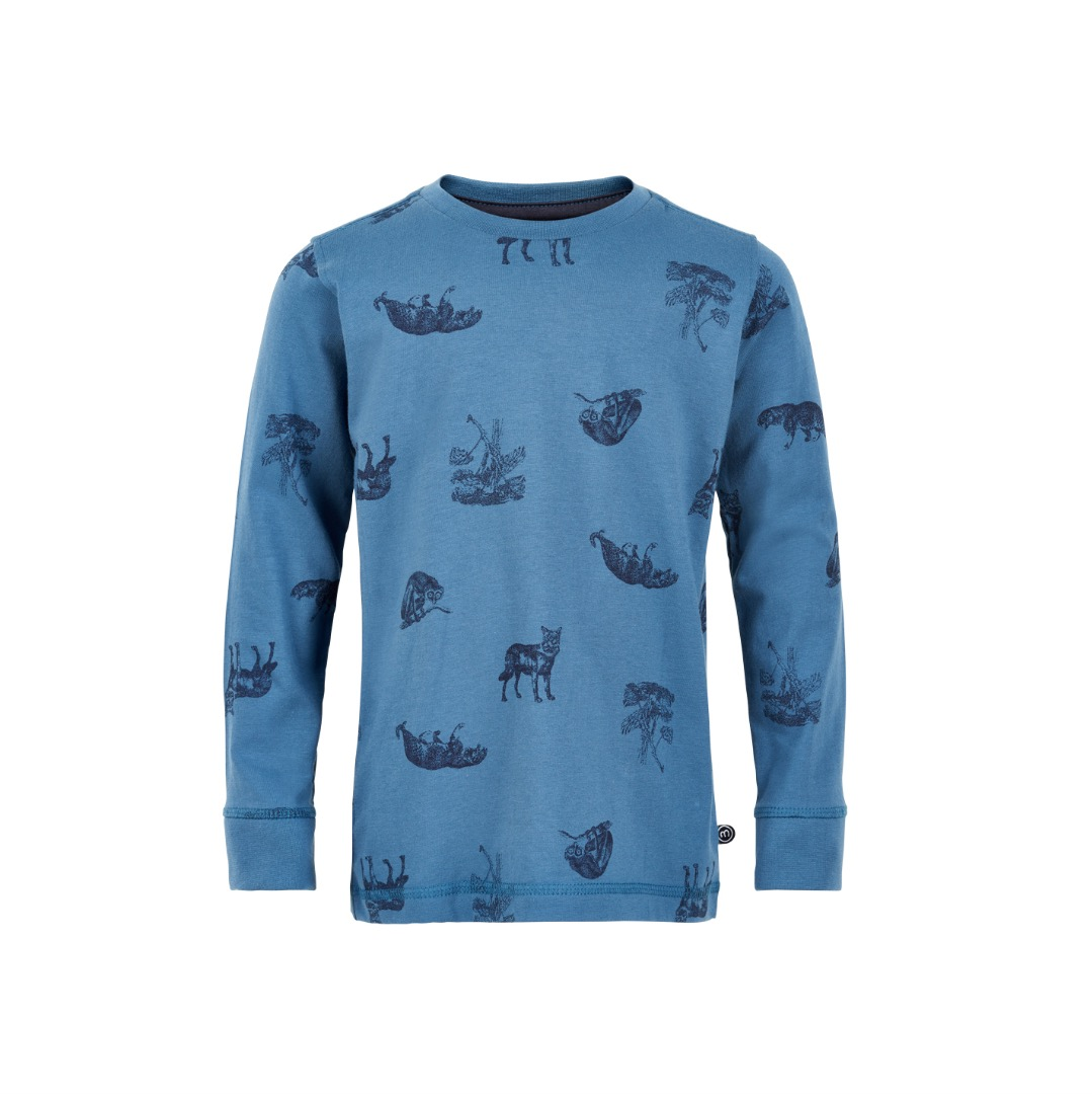 MINYMO Shirt mit Alloverprint Tiere