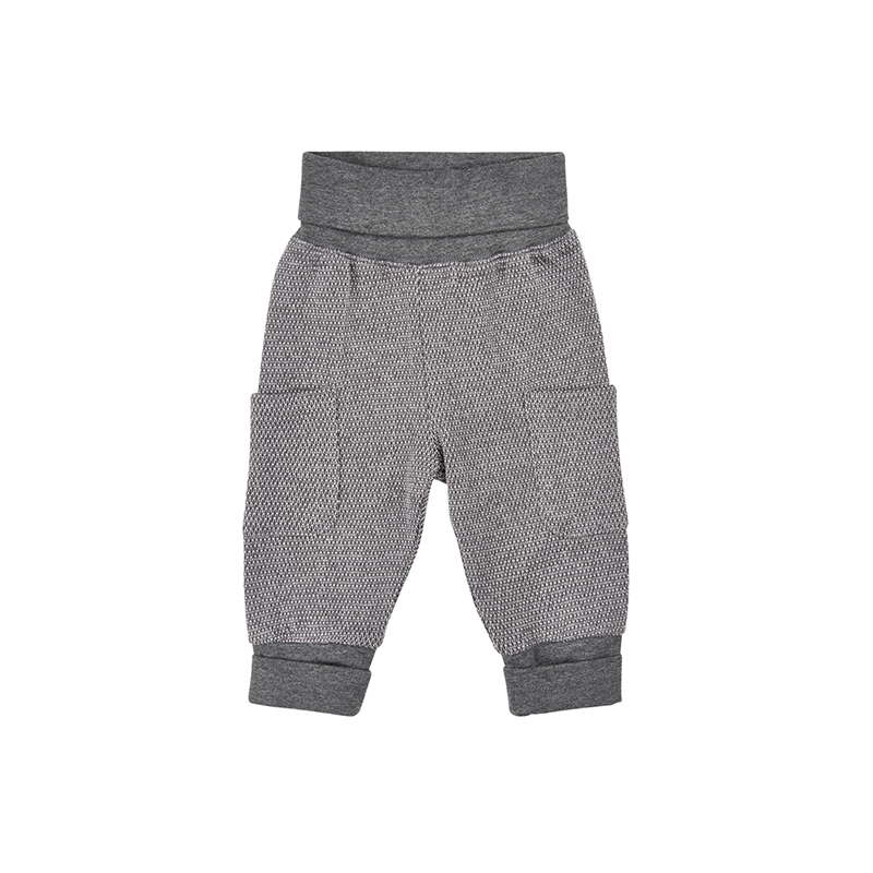 MINYMO Baby Hose Mace Sweat pants grau 100 Bio-Baumwolle