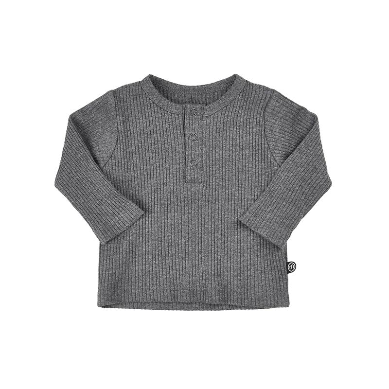 MINYMO Mace Baby langarm Shirt grau 100 Bio-Baumwolle