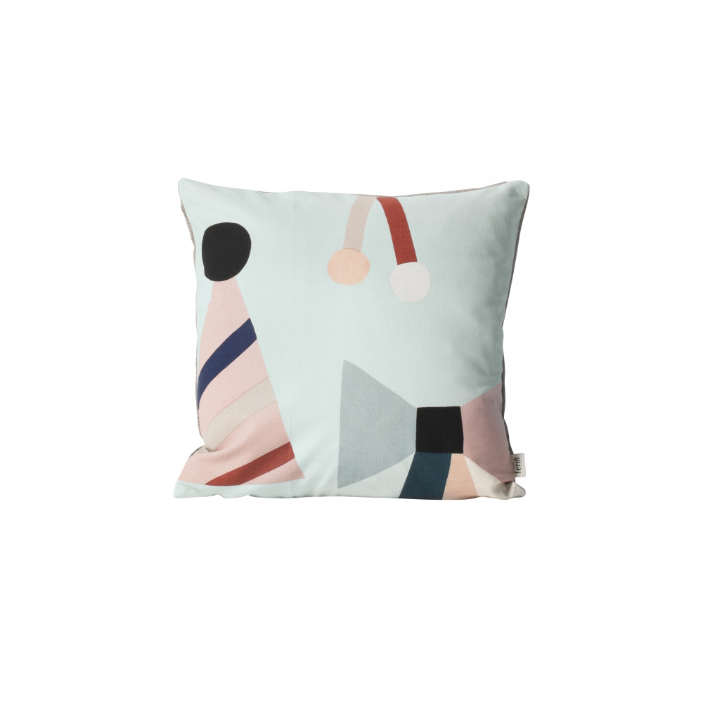 FERM LIVING Party Cushion - Mint Party Kissen Schleifenmotiven Mint 40 x 40 - 1