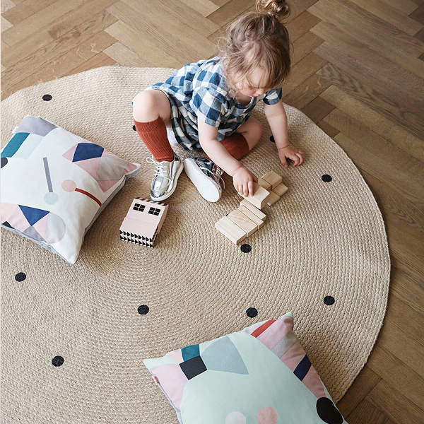 FERM LIVING Party Cushion - Mint Party Kissen Schleifenmotiven Mint 40 x 40 - 4