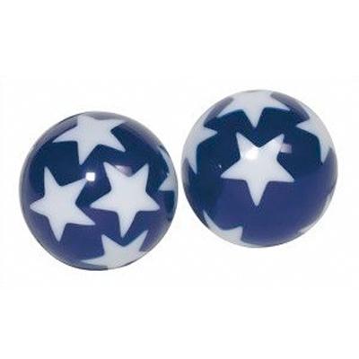 Flummi dunkelblau mit Sternen leuchtet im - 1