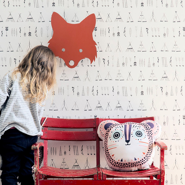 Ferm Living Fox Lamp - Red Orange Kinderlampe