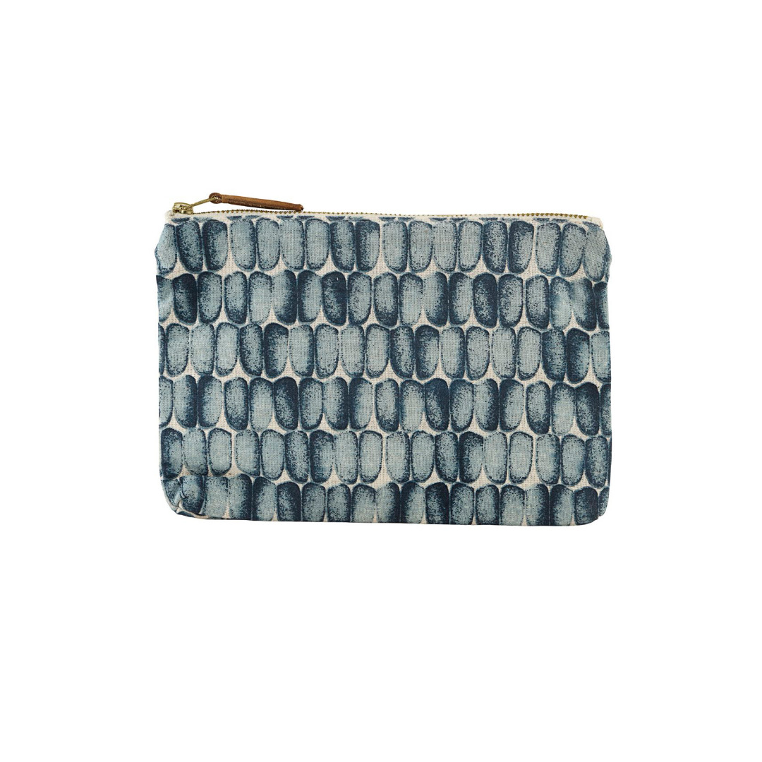 HOUSE DOCTOR Cosmetic bag, Braid, blue 23x16 cm - 1