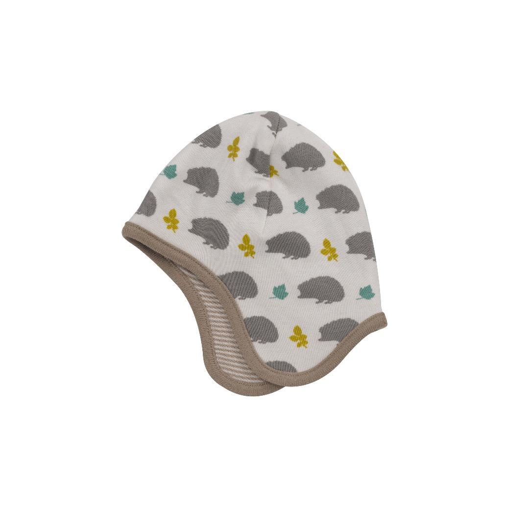 PIGEON Babymuetze Wendemuetze Igel grau Bio Baumwolle