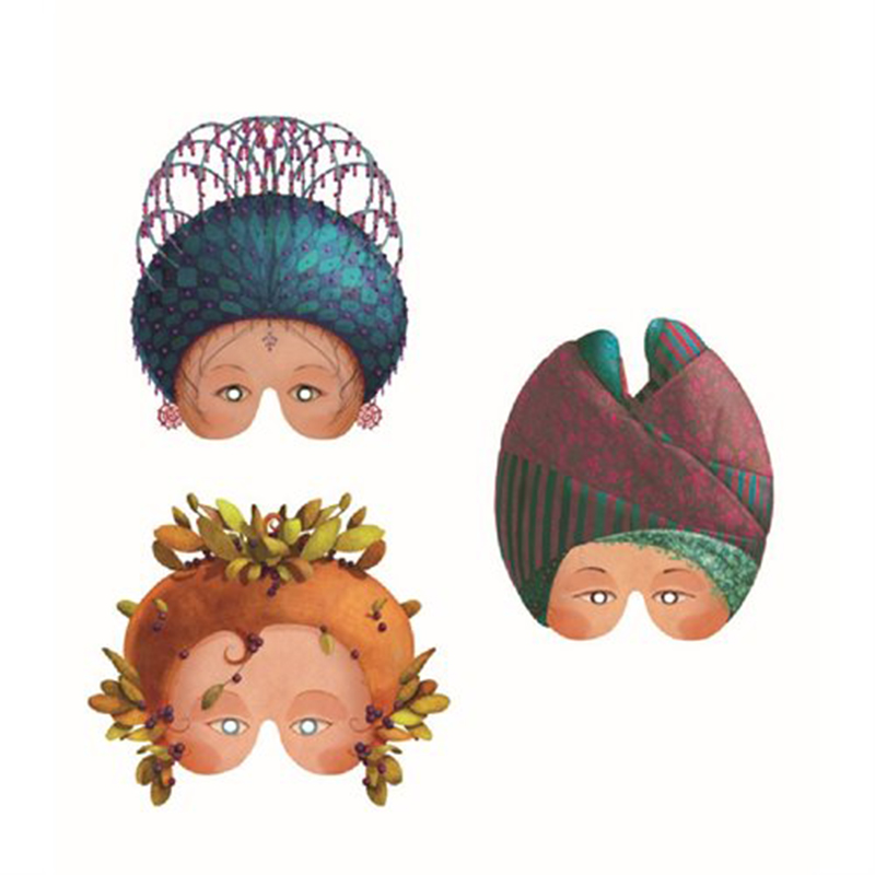 DJECO Masken feine Damen - 5
