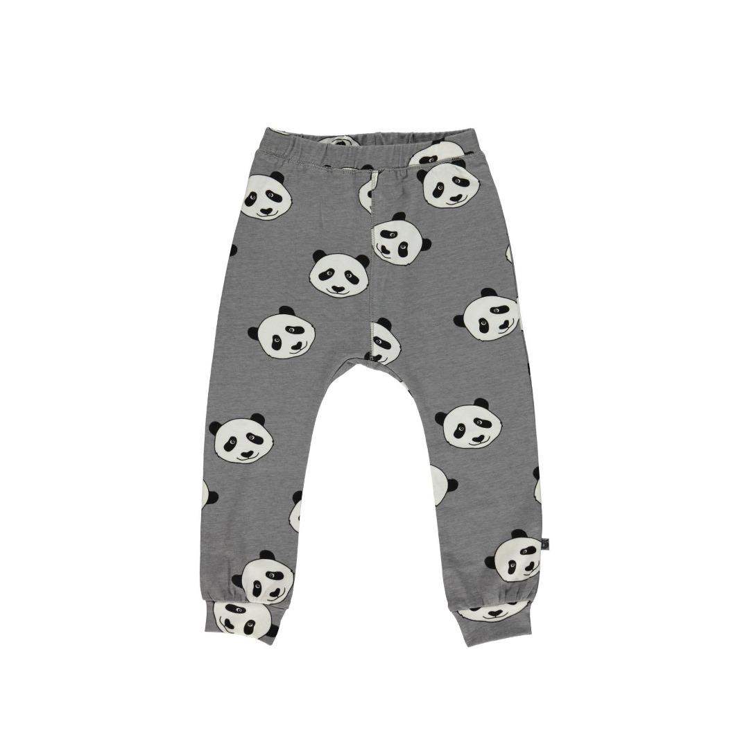 SMAFOLK Kinder Hose Pants Panda Gesicht Wilde Dove - 1